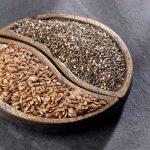 Linu sėmenys ir chija sėklos