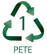 1 PET Plastiko ženklas
