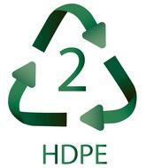 2 HDPE Plastiko ženklas