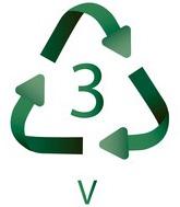 3 PVC Plastiko ženklas