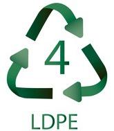 4 LDPE Plastiko ženklas