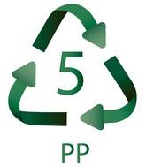 5 PP Plastiko ženklas