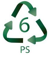 6 PS Plastiko ženklas