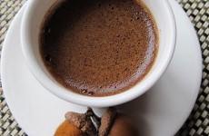 Paruošta gilių kava