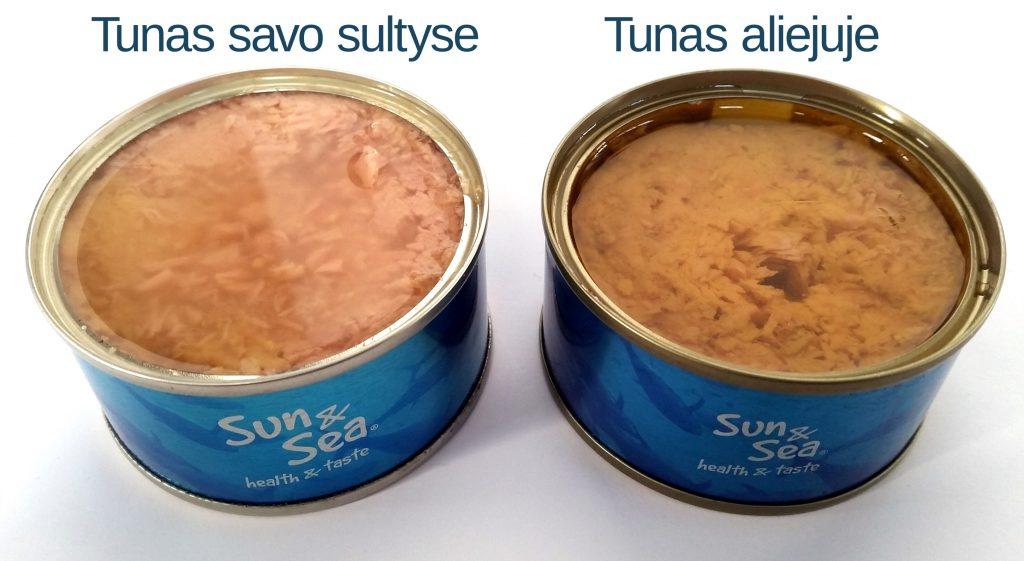 Tunas aliejuje ar savo sultyse