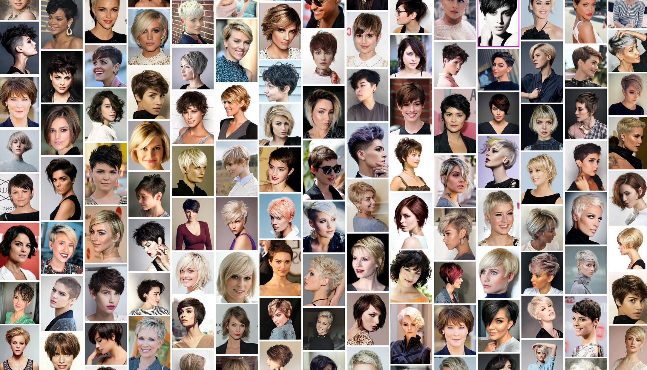 Trumpų plaukų šukuosenos