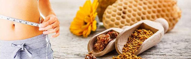 bičių žiedadulkės svorio metimui)