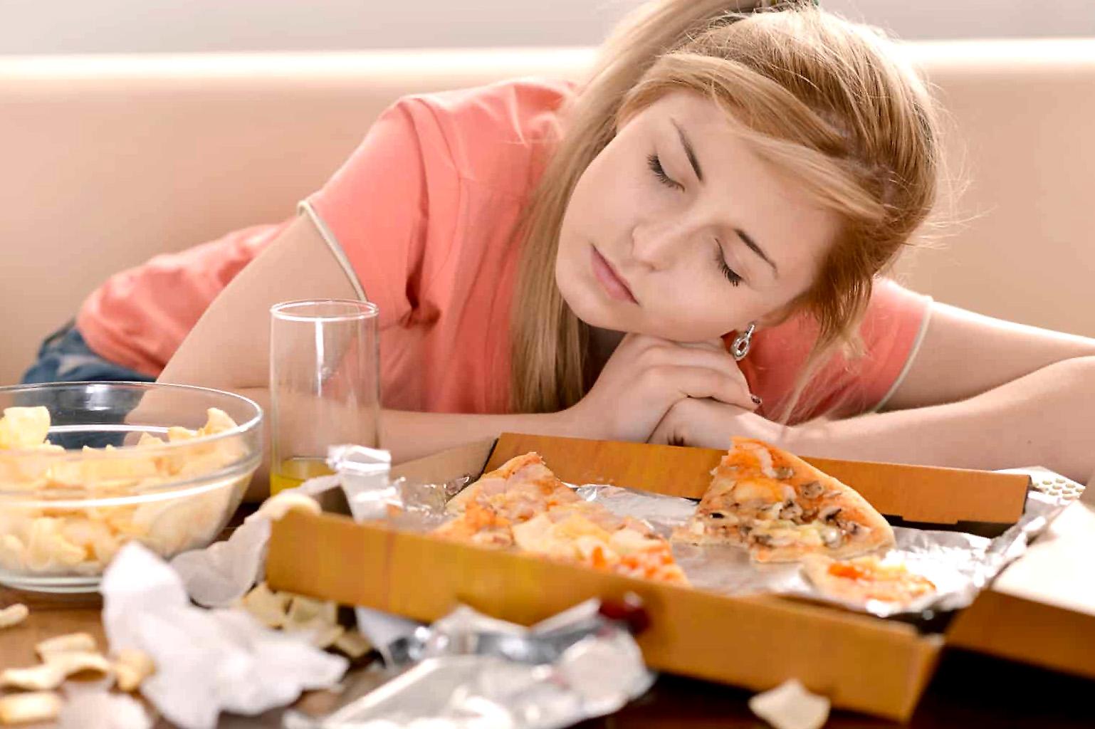 Mieguistumas ir silpnumas po valgio
