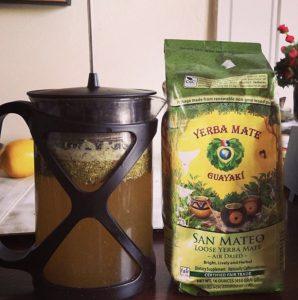 Yerba mate arbatos ruošimas