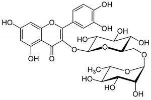 Rutinas (Vitaminas P) Cheminė formulė